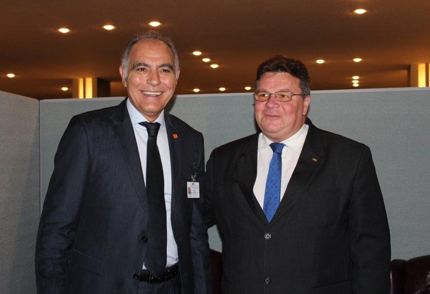 Linas Linkevičius su Maroko UR ministru