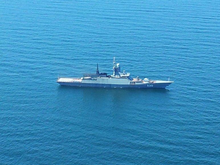 Rusijos karo laivas Baltijos jūroje