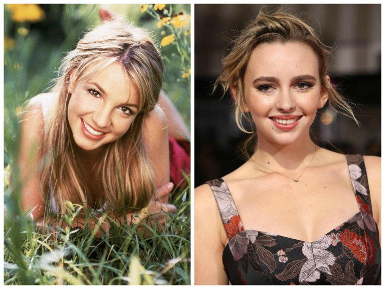 Vida Press nuotr./Britney Spears ir ją biografiniame filme vaidinsianti Natasha Bassett