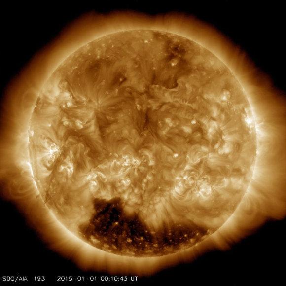Gigantiška Saulės kiaurymė