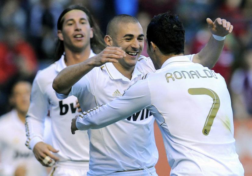Cristiano Ronaldo, Karimas Benzema ir Sergio Ramosas