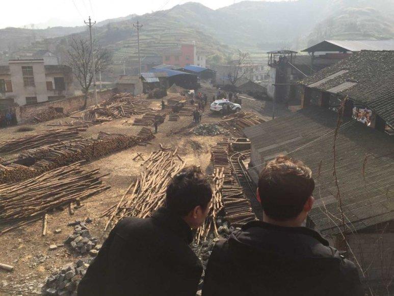 Vidurio Kinijos anglių kasykloje nugriaudėjo sprogimas