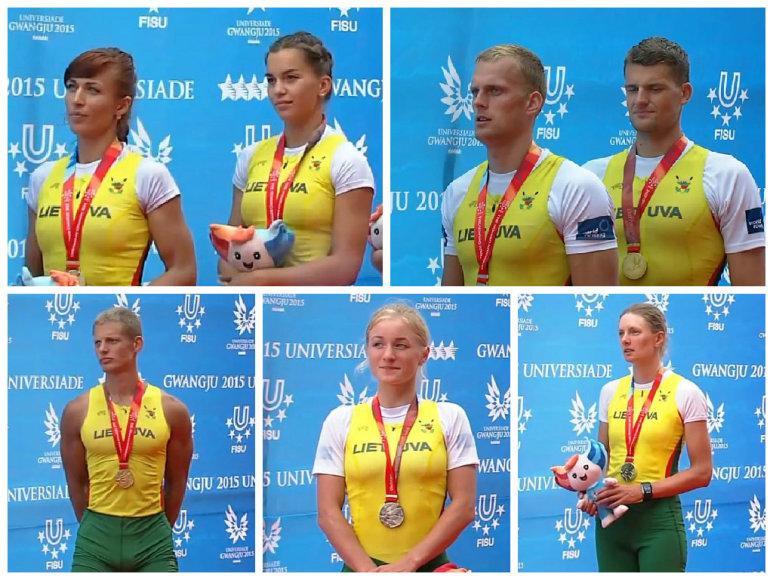 Irkluotojai - Universiados čempionai ir medalininkai