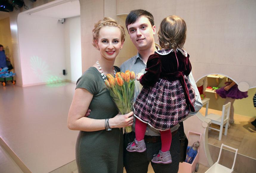 Ieva Norkūnienė su vyru Adomu
