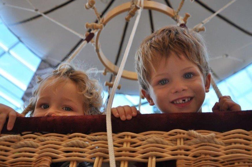 Kaune unikali pramoga vaikams – pakėlimas helio oro balionu