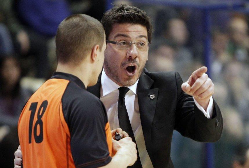 Rusijso krepšinio rinktinės treneris graikas Fotios Katsikaris