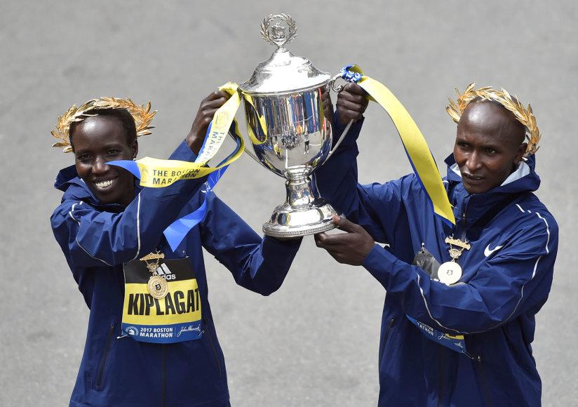 Bostono maratone – Kenijos bėgikų triumfas