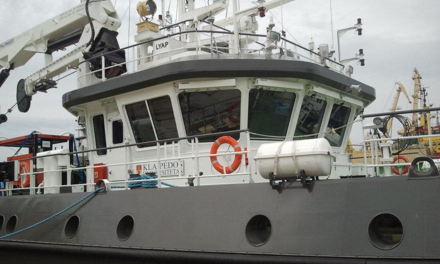 Į jūrą Nyderlandų kompanija išplukdo 6,5 tonos įrangos.
