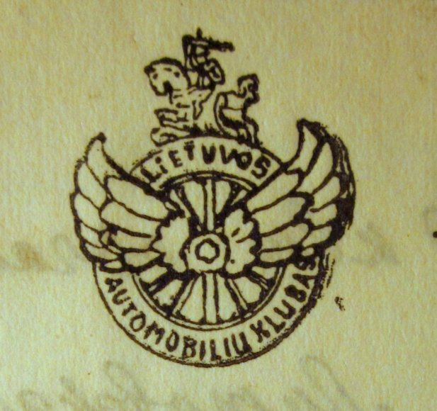 Lietuvos automobilių klubo ženklas 1927-1929 m.
