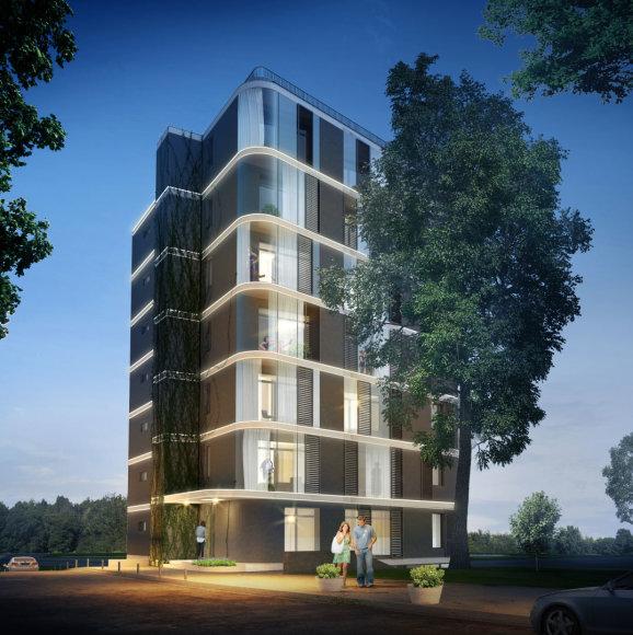 """Projektas """"Studio Tower"""" Vilniuje"""