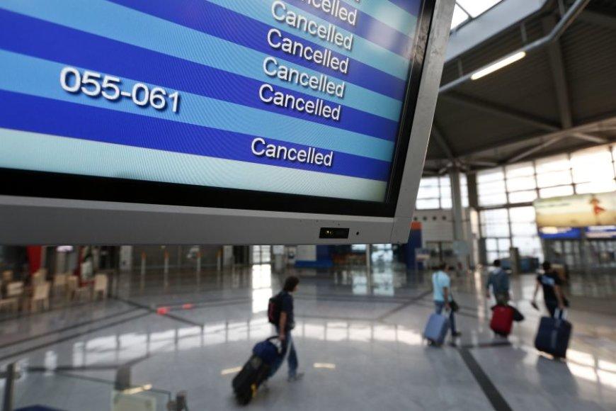 Graikijoje atšaukta daugybė vidinių skrydžių.