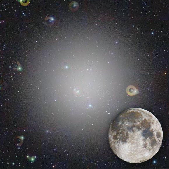 Taip atrodytų Crater 2 galaktika, jei ją galėtume matyti iš Žemės