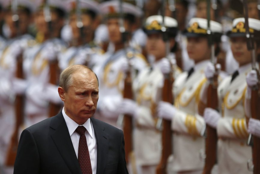 Rusijos prezidentas Vladimiras Putinas Kinijoje