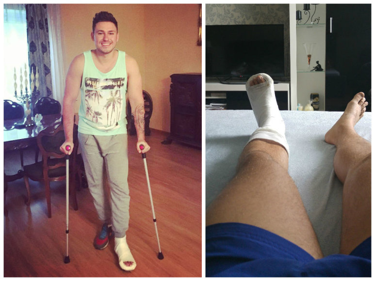 Rokas Laureckis patyrė kojos traumą