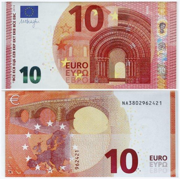 10 eurų banknotai