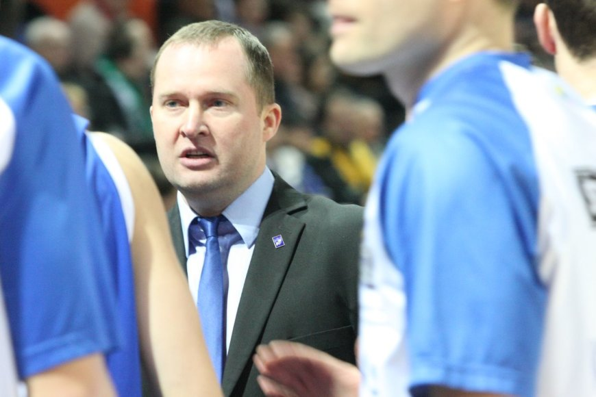 """""""Neptūno"""" vyriausiasis treneris Kazys Maksvytis"""
