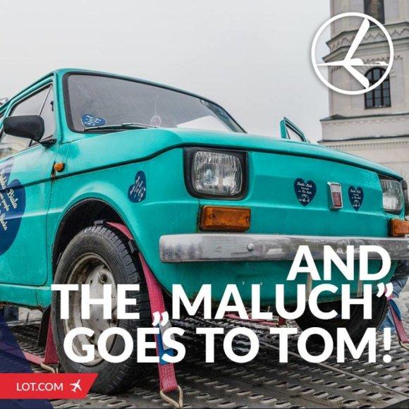 """Lenkai Tomui Hanksui dovanoja """"Fiat 126p"""""""