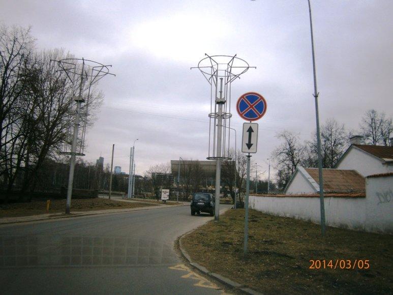 Kelio ženklai Kosciuškos gatvėje