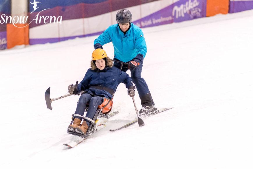 Druskininkų Snow Arenoje – nacionalinė slidinėjimo programa neįgaliesiems