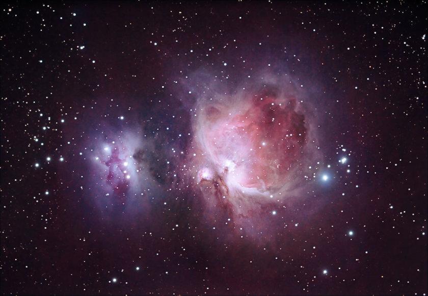 Oriono ūkas – įspūdinga žvaigždėdaros sritis. Astrophoto.com