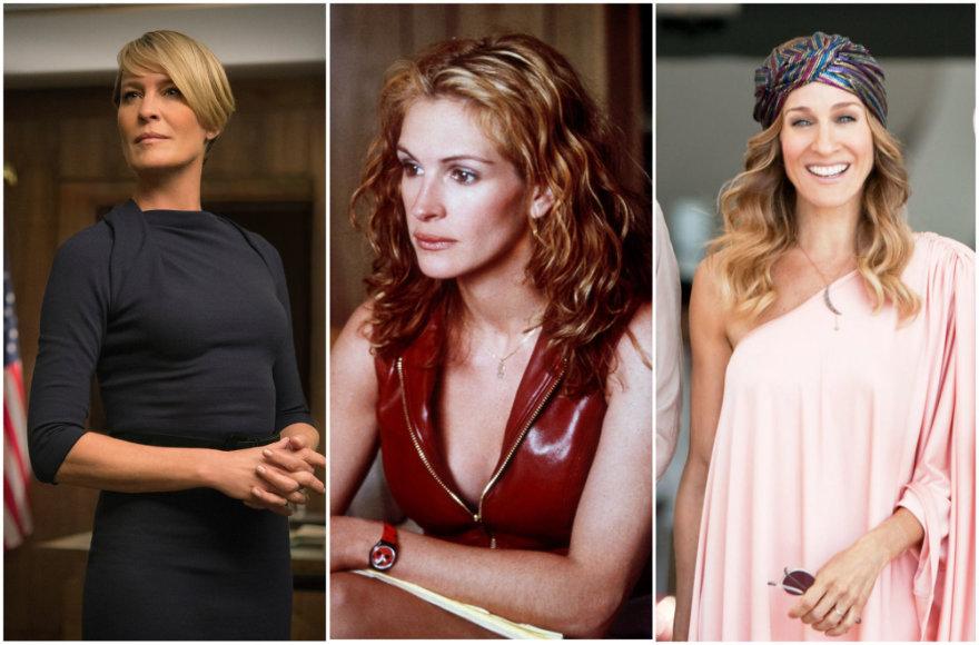 Aktorės (iš kairės): Robin Wright, Julia Roberts, Sarah Jessica Parker