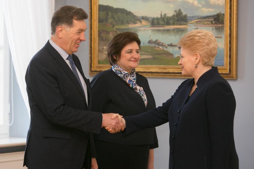 Dalia Grybauskaitė, Algirdas Butkevičius, ir Loreta Graužinienė