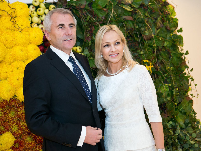 Vygaudas Ušackas su žmona Loreta