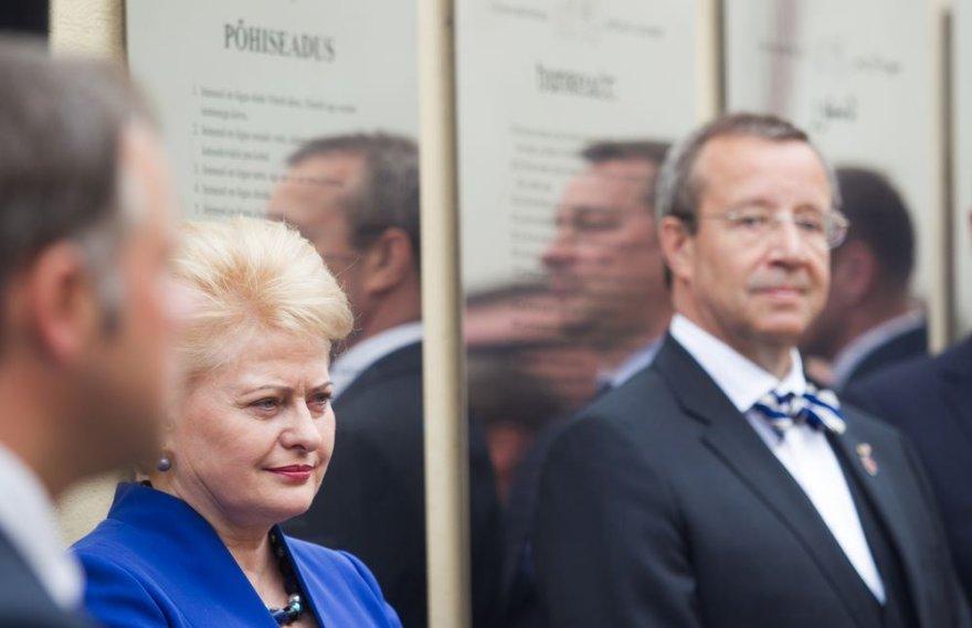 Dalia Grybauskaitė ir Toomas Hendrikas Ilvesas