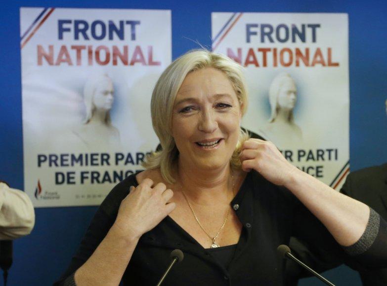 Nacionalinio fronto lyderė Marie Le Pen