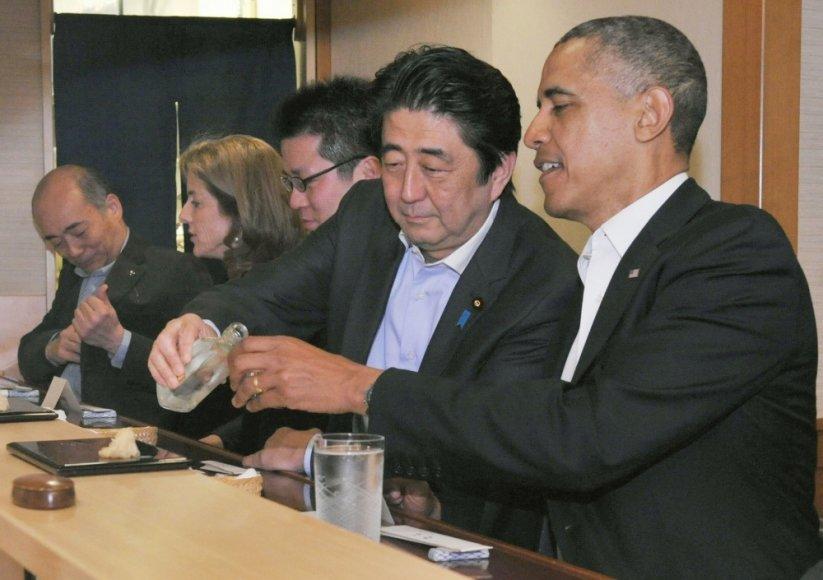 Shinzo Abe ir Barackas Obama