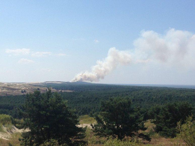 Karaliaučiuje netoli Nidos dega miškas