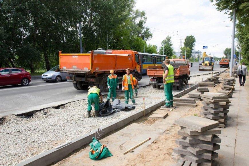 Kelininkai pluša visame Vilniuje – remontuojamos gatvės ir šaligatviai