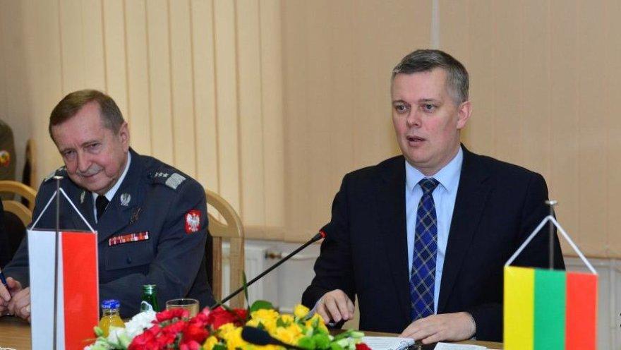 Lietuvos ir Lenkijos krašto apsaugos ministrų susitikimas