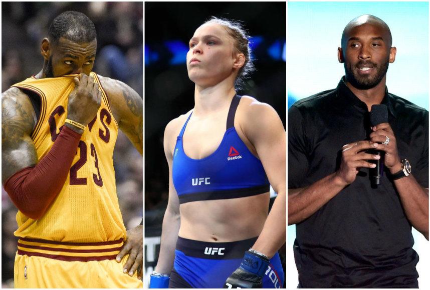 LeBronas Jamesas, Ronda Rousey ir Kobe Bryantas