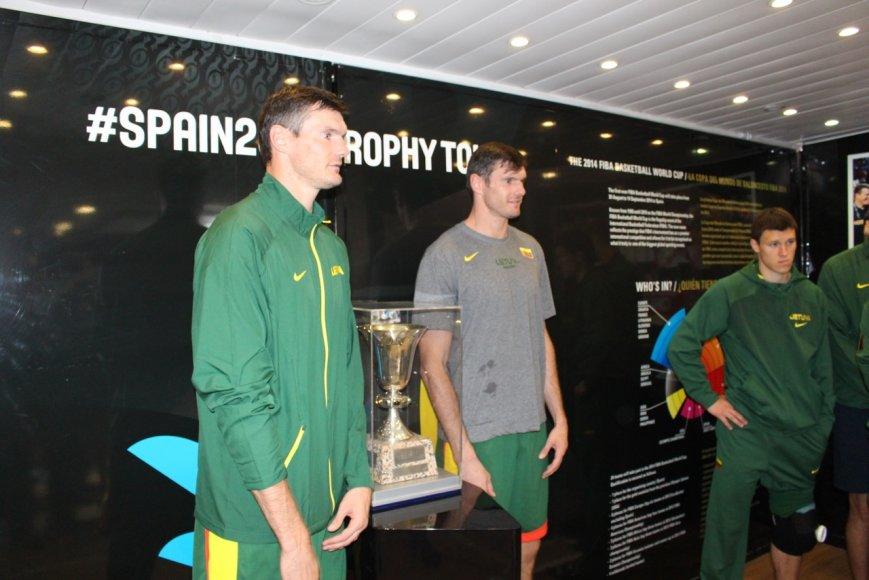 Lietuvos krepšinio rinktinė apžiūrėjo pasaulio taurę