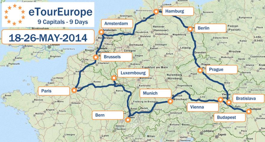 """""""eTourEurope"""" maršrutas"""