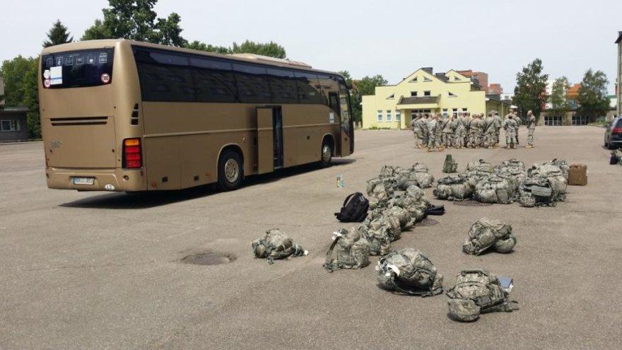 Į Klaipėdą atvyko JAV kariai