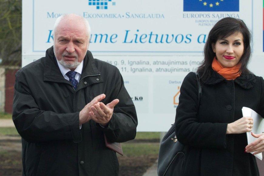 Aplinkos ministras Valentinas Mazuronis ir viceministrė Daiva Matonienė
