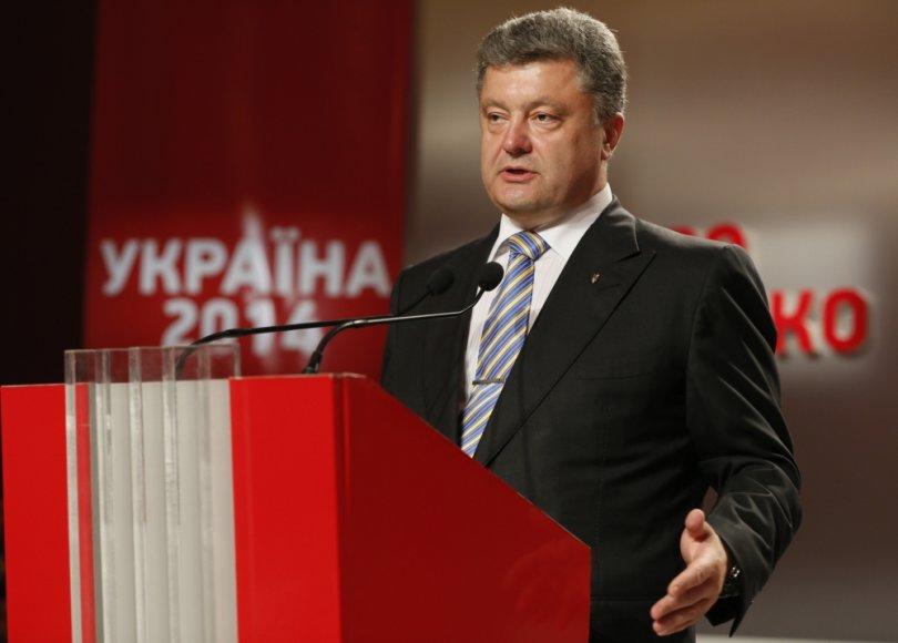 Petro Porošenka kreipiasi į šalininkus savo rinkimų štabe