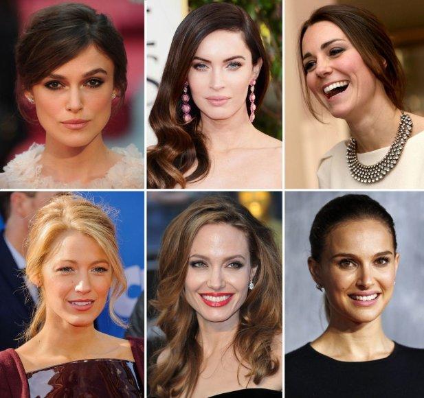 Keira Knightley, Megan Fox, Kembridžo hercogienė Catherine, Blake Lively, Angelina Jolie, Natalie Portman