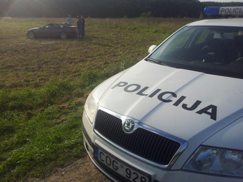 BMW automobilio avarija Vilniaus rajone