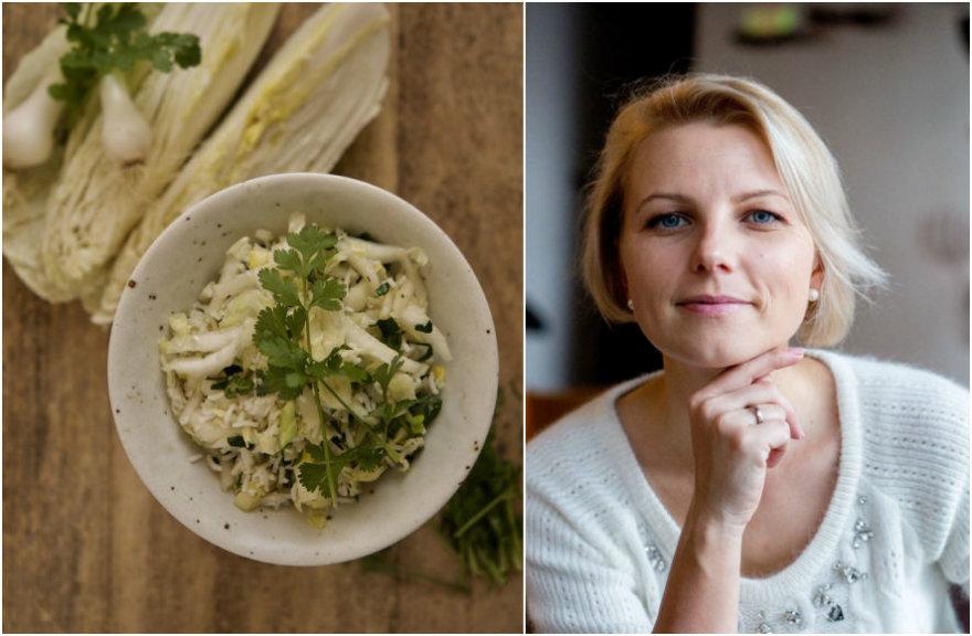 Dangira Šimašiutė ir jos ruoštos salotos