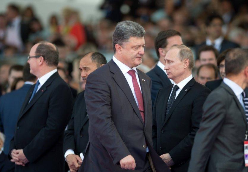 Petro Porošenka ir Vladimiras Putinas