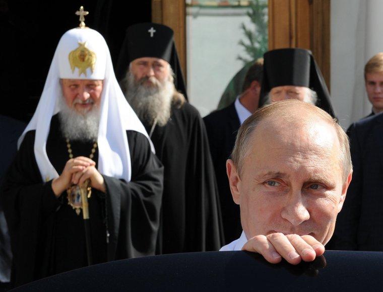 Vladimiras Putinas su Rusijos stačiatikių bažnyčios atstovais