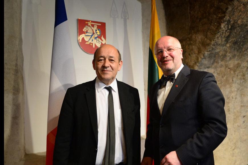 Prancūzijos gynybos ministro  Jeano Yves'o Le Driano susitikimas su Juozu Oleku