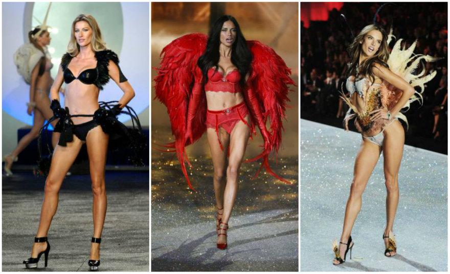 Iš kairės: Gisele Bundchen, Adriana Lima, Alessandra Ambrosio