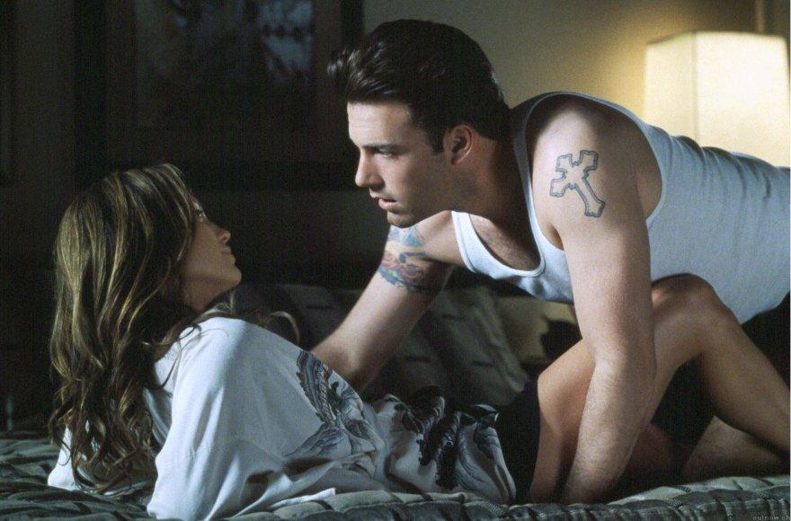 """Jennifer Lopes ir Benas Affleckas filme """"Džiglis"""""""