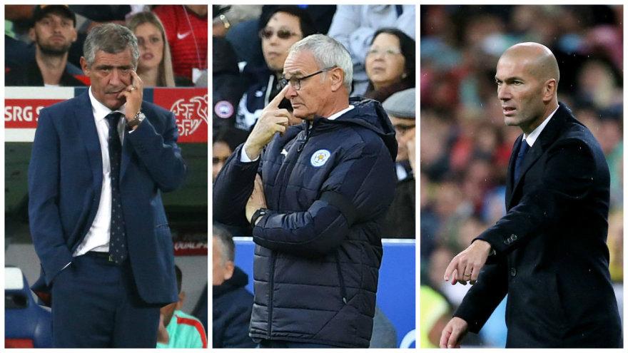 Fernando Santosas, Claudio Ranieri ir Zinedine'as Zidane'as