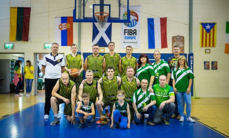 """Airijos lietuvių krepšinio komanda """"Legionas"""""""