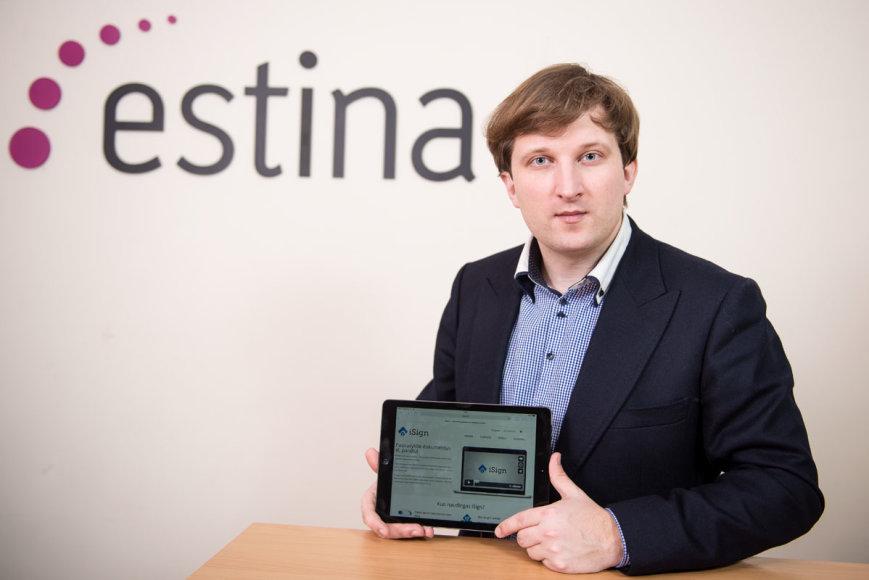 """Startuoja elektroninių dokumentų pasirašymo platforma """"iSign"""", kurią sukūrė bendrovė """"Estina"""""""